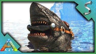 MEGALODON TAMING! HARPOON GUN AND ALPHA MEGALODON FIGHT! - Ark: Survival Evolved [S4E22]