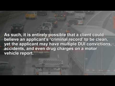 Verifying Employee Driving Records | BackgroundCheckCentral.com