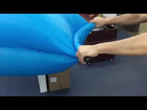How to inflate the lazy bed/inflatable bag/banana sleeping bag