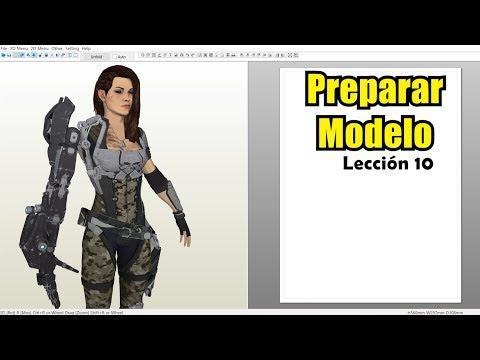 Cómo preparar un modelo 3D para Pepakura