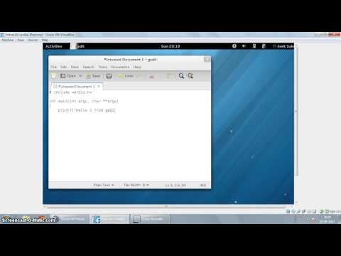 Using gedit to edit C and Python programs on Fedora 18