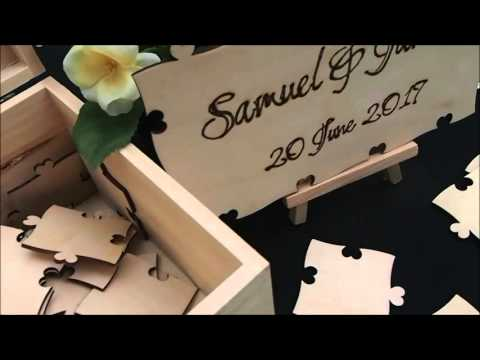 Celebrate Your Wedding with Wood Guestbook Puzzles from Perfect Fit