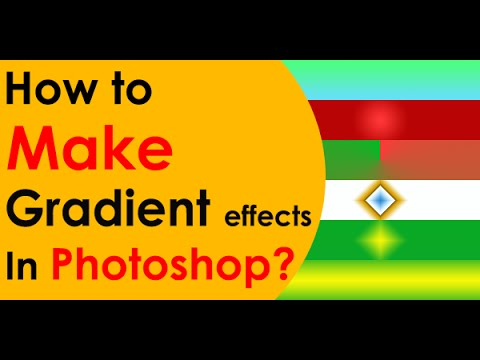How to use Gradient Tools - Learn New Gradient Effects in Photoshop (2018)