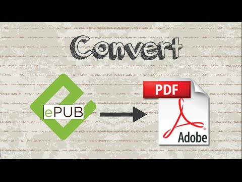 How to convert EPUB file to PDF format