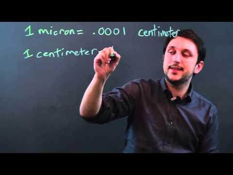 Unit Conversion: Microns to Centimeters