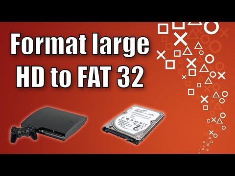 How to format a Hard Disk or USB stick in Fat32 (over 32gb)