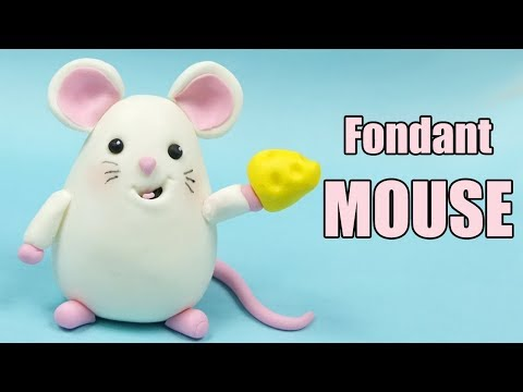 Mouse Cake Topper Tutorial! How to make fondant mouse / easy cake decorating