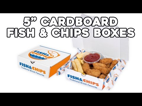 Cardboard Fish & Chips Boxes
