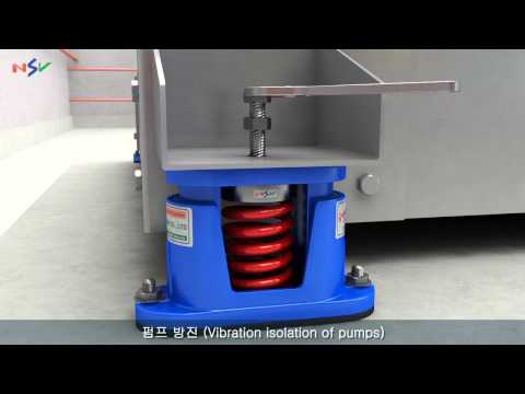 [NSV] 펌프 방진 밀폐형 스프링 마운트_VIBRATION ISOLATION OF PUMPS(Close Type)