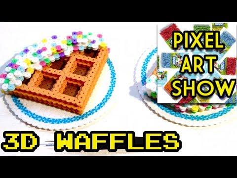3D Perler Bead Waffles Tutorial - Pixel Art Show