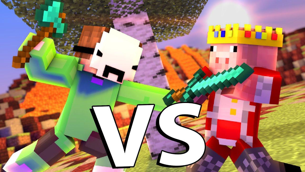 Dream VS Technoblade - Minecraft FIGHT Animation