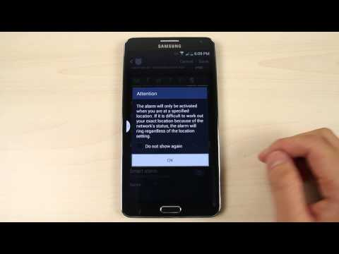How to set the alarm on Samsung Galaxy Note 3