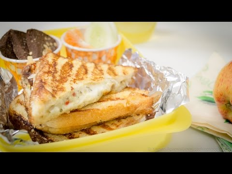 Curd & Cheese Sandwich - Suji Toast Style Grilled Sandwich | Kids Lunch Box Recipes