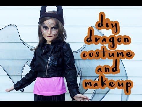 DIY Dragon Costume + Makeup