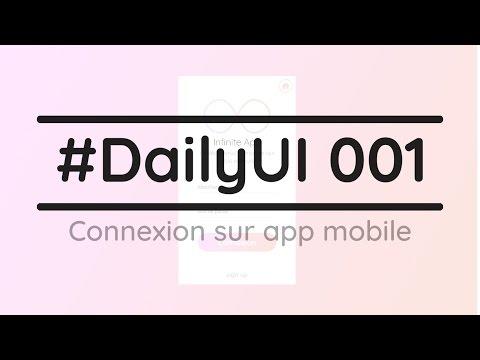 #DailyUI 001 - Page de connexion [AdobeXD]