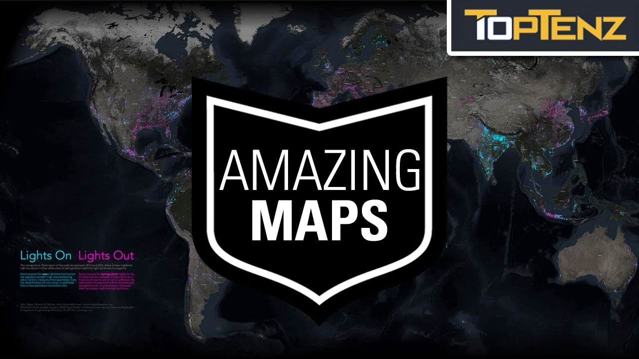 10 AMAZING Maps of the Modern World and Beyond