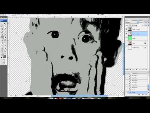 Multi Layer Stencil Design Tutorial Using Photoshop (no cutout/livetrace)