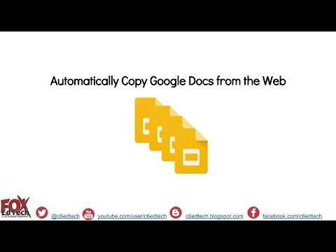 Force Copy a Google Doc