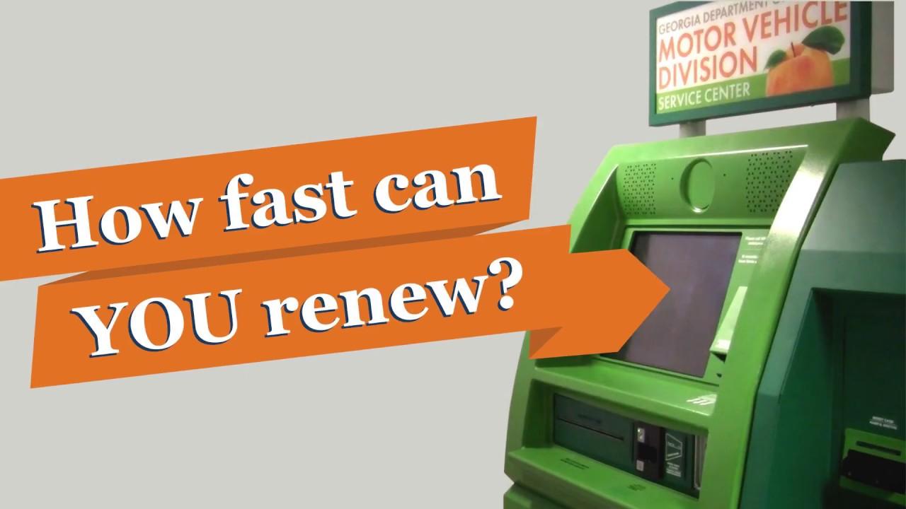 Renew your license plates at a Georgia Tag Kiosk