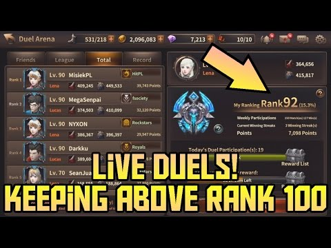 Keeping Above Rank 100!! Live Duels! Lena PVP | HIT