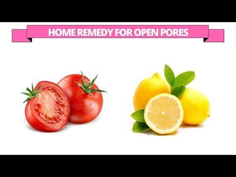 Tomato for open pores - tomato and lemon juice to treat the skin open pores
