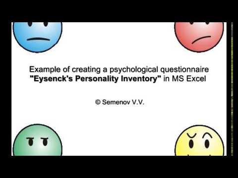 Example of creating a psychological questionnaire