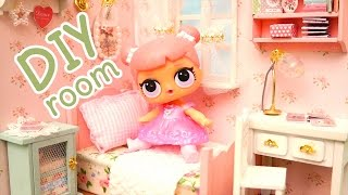 DIY Room for LOL Toy Surprise Dolls Surfer Babe & Center Stage - Kid-Friendly Family Fun Miniatures