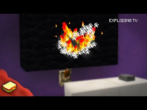 Minecraft | How to make an Exploding Television