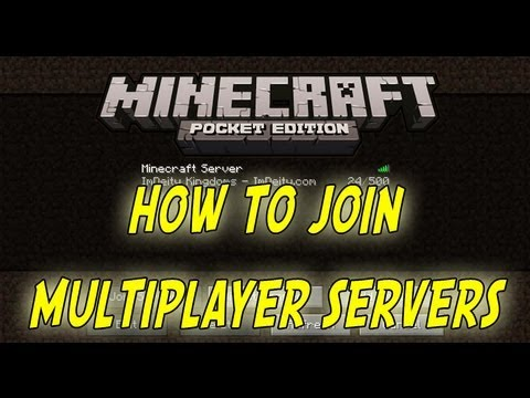 How To Join Multiplayer Servers On Minecraft PE 0.7.5 [Pocket Edition]