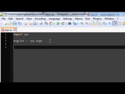 Learn Python Programming Tutorial 21   Command Line Arguments