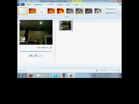 How to do slow and fast motion on windows live movie maker