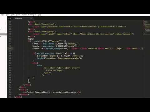 Aula 002 - Proteção contra SQL Injection PHP
