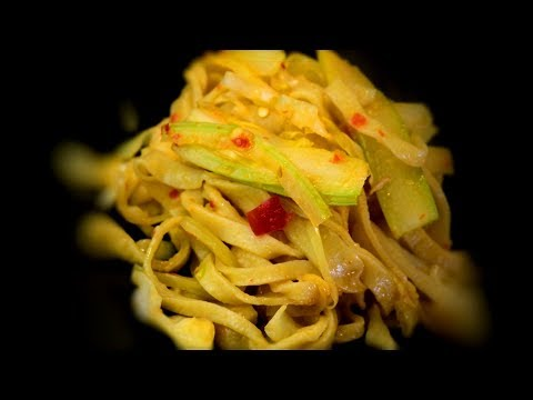 Spicy Cabbage & Egg Noodle Stir-fry (Chinese Style Cooking Recipe)
