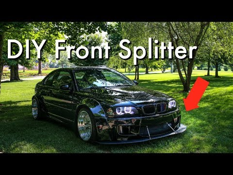 Widebody M3 Gets a DIY Splitter!