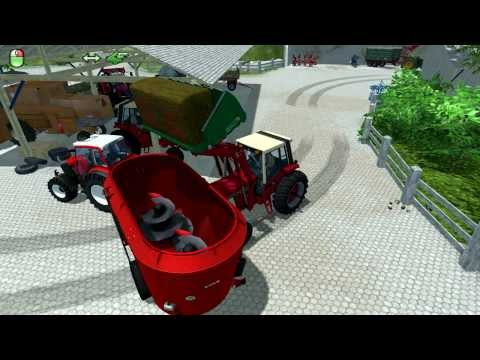 The Alps: Farming simulator 2013 - Silage feeding cows