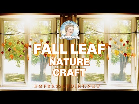 DIY Falling Leaves Autumn Nature Craft
