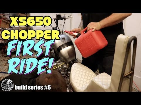 Yamaha XS650 Chopper FIRST RIDE! [xs650 chopper build series #6]