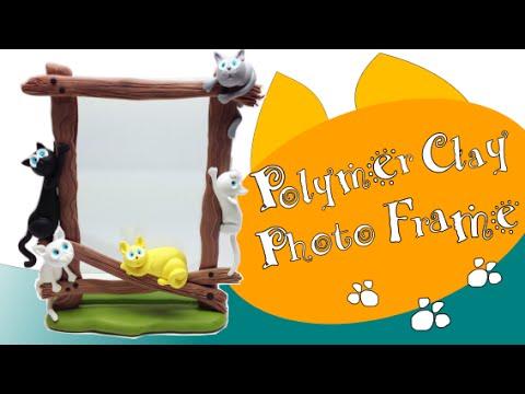 Polymer clay Photo Frame/ Moldura Fimo- Tutorial