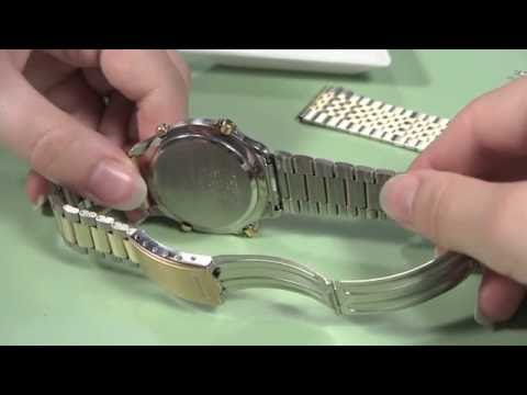How to Change a Metal Watch Band without Holes in the Case