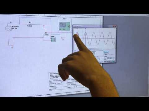 Anthony explaining how to use an Oscilloscope on Multisim