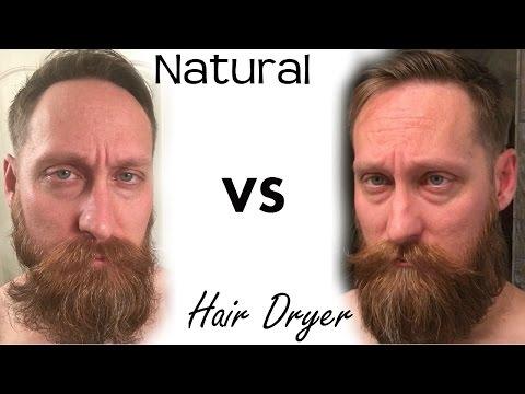 Using Hair Dryer on Beard