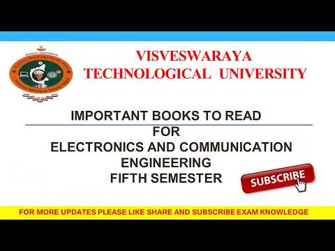 Vtu engineering books to be read for exams fifth sem