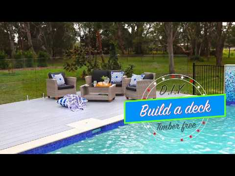 How to build pool deck. Timber free!