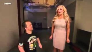 Natalya Farts and Kills Hornswoggle - WWE Smackdown 2/11/12
