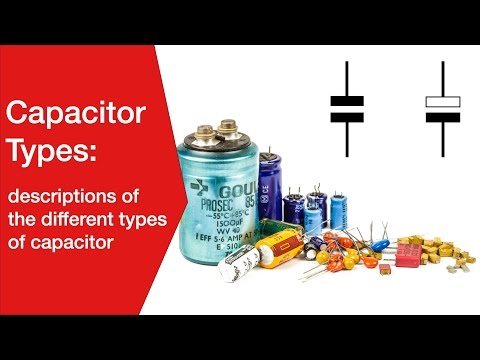 Capacitor Types: electrolytic, ceramic, tantalum, plastic film