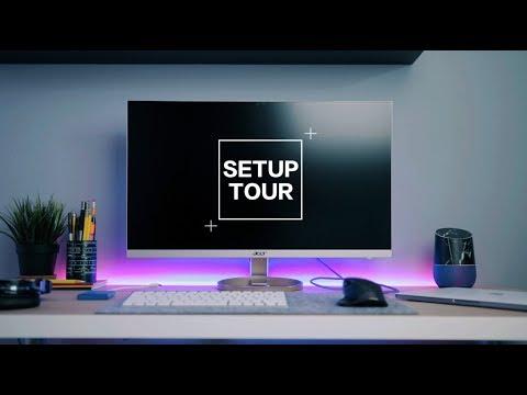 PERFECT MACBOOK PRO 2017 DORM DESK SETUP TOUR [Mobile Workstation]