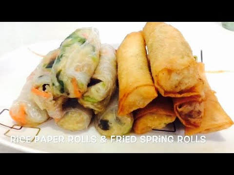 RICE PAPER ROLLS  AND FRIED  SPRING ROLLS