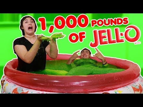1,000 POUND JELL-O POOL! ~ BATHING IN A TON OF JELL-O!
