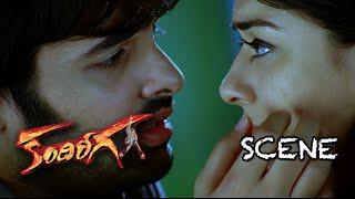 Ram Giving Lip Kiss To Hansika || Kandireega Movie Comedy Scenes