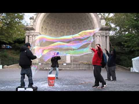 Giant soap bubbles in Central Park - October 2011